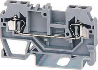 DIN rail terminal block 0.2...2.5mm2 for TS35, spring clamp, 24A 800V, grey