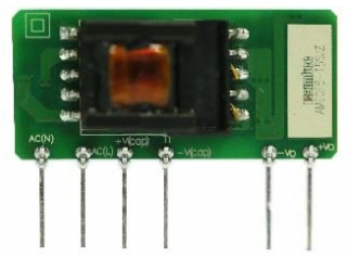 5W; Uin:85·264VAC/100-400VDC; Uout:5VDC; Iout:1A; Ultra Slim Open Frame SIP