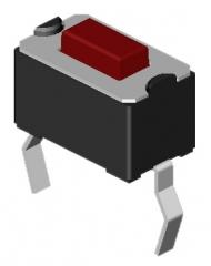 Tact sw. 2p SPST Mom. 50mA/12V 3.5х6.0x5.0mm, Red