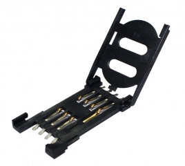SIM Card Socket; Plastic Hinge; with Card Detect Switch; 6+2 pin
