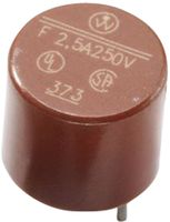 Fast acting fuse, 0.315A, 250VAC, D8.5xH8.5mm, radial terminals, PCB