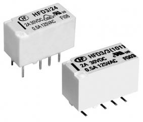 0.5A/125VAC; 2A/30VDC; 12V/1028Ohm; DPDT AgNi+Au; Signal, Subminiature