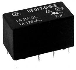 1A/125VAC; 2A/30VDC; 12V/720Ohm; DPDT AgNi+Au; Signal, Subminiature, Sensitive; Sealed