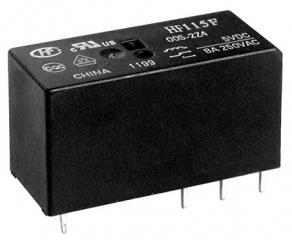 8A/250VAC at 85'C; 24V/1440Ohm; DPDT AgNi; High Power, Miniature; Sealed