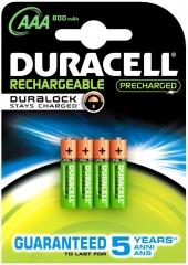 Pack of 4 NiMH Batteries 1.2V/800mAh AAA