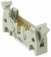 SEK Series, 2.54mm Pitch 16 Way 2 Row , short levers straight PCB Header, Solder Termination, 1A
