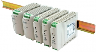 DIN Rail; In. 90-264VAC/120-375VDC; Out. 12V(10.80-13.80)/1.50A; -20°C to 70°C(Full power to 60°C); Eff. 77%; 115.0x22.5x88.5mm