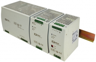 DIN Rail; In. 90-132/180-264VAC; Out. 24V(22.5-28.5)/10A; -40°C to 70°C(Full power to 60°C); Eff. 89%; 111.3x83.0x125.0mm