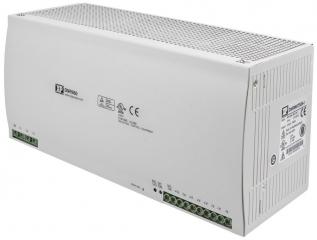 DIN Rail; 3 phase AC In. 340-575VAC; Single phase In. 470-820VDC; Out. 24V/20A; -30°C to 70°C(Full power to 60°C); Eff. 90%; 111.3x150.0x123.6 mm