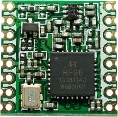 SMD RF Transceiver Module, FSK, GFSK, MSK, GMSK, LoRaTM and OOK modulation, 300Kbps, 868MHz, SPI, Pout=17dBm, -123dBm Sens.