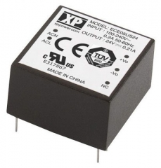 Ultra Compact AC/DC; 5W; Uin:85-264VAC; Uout:5.0VDC; Iout:1.0A(1.3A Peak); Eff. 80%; -25°C to 70°C(Full power to 50°C)