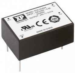 Ultra Compact AC/DC; 10W; Uin:85-264VAC; Uout:24VDC; Iout:0.41A(0.53A Peak); Eff. 83%; -25°C to 70°C(Full power to 50°C)