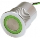 Piezo Switch SPST OFF-(ON), M27, 0.1A/60VDC, red-green, metal