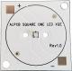 Square PCB, HD Green 520-535nm, 93.9lm@350mA, 1A max, 130deg