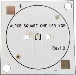 SQUARE AL PAD with CREE XQE HD series LED, BLUE, max 700mA