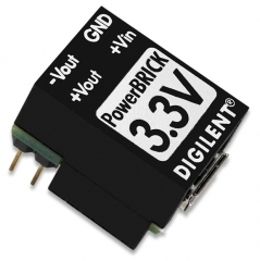 Breadboardable Dual Output USB Power Supply 1.1W; Input: 5V from a standard USB; Output: ±3.3V/320mA