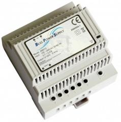 DIN Rail TS35; In. 90-264VAC; Out. 12V±1%/5A; -20°C to 55°C(Full power); Eff. 90% typ.; 87.0x94.0x67.5mm