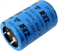 electrolytic capacitor, long life, 105°C, 0.21R, 30x40mm RM10 || Data Code 2009
