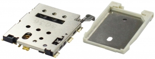 Държач за Nano SIM карта; Eject Type; Top Mount; with Tray; H=1.35mm
