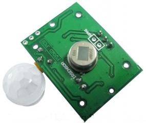 PIR sensor module, 7x24x32mm, 4~12V, 40/60/90/120°, -20~70?C