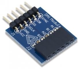 PmodDA1: Four 8-bit D/A outputs