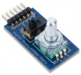 Rotary Push-button shaft Encoder; 6-pin Pmod connector with GPIO interface; 3.8x2.0 cm