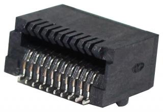 SFP Connector; 20pin; 0.5A/30V; SMT Type; 5um Gold Plating