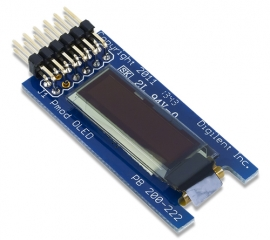 PmodOLED: 128 x 32 Pixel Monochromatic OLED Display; SPI; Solomon Systech SSD1306 driver with controller