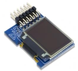 "PmodOLEDrgb: 96 x 64 RGB OLED with 16-bit color resolution; 0.8"" x 0.5""; SPI"