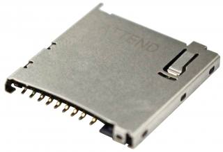 UHS-II v4.0 Micro SD Card Socket, Push-Push; Top Mount; SMD