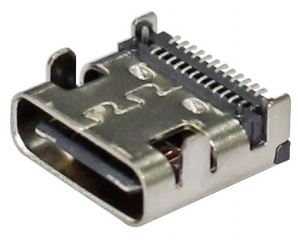 USB 3.1; C-Type Receptacle; Right Angle; Dual Row SMD