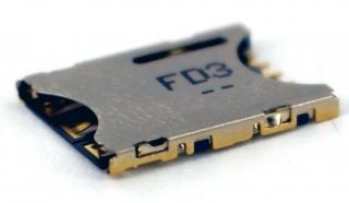 Държач за Nano SIM карта; Push-Pull; 6 pin; H=1.2mm