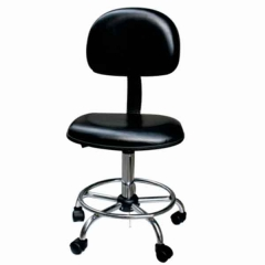 Стол ESD; PU кожа; регулируема височина; с колелца