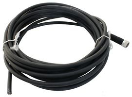 Circular Cable Assembly, Side A: M8(4-pin) Socket, Side B:Free End, 5 m, Black, 30V, 4A
