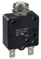 Thermal circuit breaker, miniaturised single pole, 20A, 250VAC/50VDC, Mounting: Panel