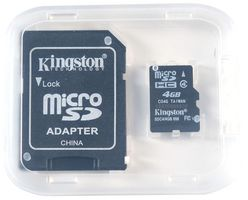 4GB microSDHC card with a SD adapter for Raspberry Pi preinstalled with Raspbian Wheezy