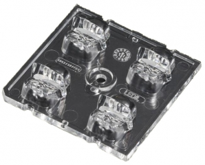 Lens Array Strada, Asymmetric Beam, Screw/Pin Fastening, Material-PMMA 50x50x12mm