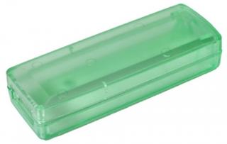 Кутия с отвор за USB конектор ABS (RAL 6027), 51x37x21, синьо-зелена прозрачна
