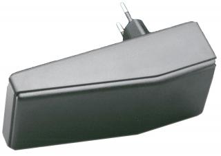 Кутия за захранвания огнезабавящ ABS (RAL 9005), 120x56x18-35, черна