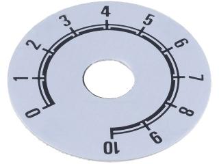 Скала за потенциометри и енкодери (10 позиции) o38мм бяла