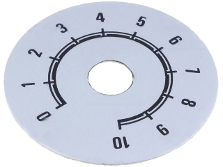 Scale for potentiometers and enclosures (10 positions) o50mm white