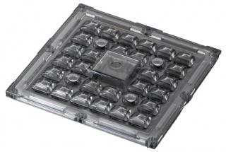 Lens Array Stradella, Spot Beam, Pin, Screw, PMMA, 49.5x49.5mmx7.5mm