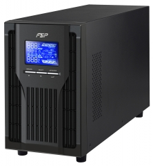 UPS; Online, True Double-Conversion, Pure Sine wave; 1000VA/900W; 12V/9.0Ah x 2; PFC; SNMP through USB&RS-232; 282x145x220mm; Schuko+USB/RS232+INTSLOT