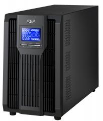 UPS; Online, True Double-Conversion, Pure Sine wave; 3000VA/2700W; 12V/9.0Ah x 6; PFC; SNMP through USB&RS-232; 421x190x336mm; Schuko+USB/RS232+INTSLO