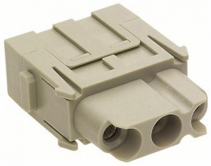 Heavy Duty Connector Insert, Han-Modular, Receptacle, 3 Contacts, 40 A