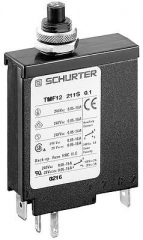 Thermal-magnetic circuit breaker, compact single pole, Manual ON/OFF, 10A, 240VAC/28VDC, Mounting: Panel