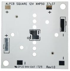 Square PCB 37x37mm. for CREE LED XLamp XHP50 12V DC