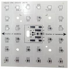 Алуминиева печатна платка 80x80mm за 28 CREE J Series 3030 светодиодa