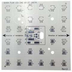 Алуминиева печатна платка 80x80mm за 28 CREE XLamp XP/XT светодиодa