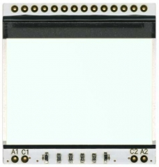 LED Backligh for EA DOGS102B-6, 39x41x3.3mm, White, 3.3V/60mA max in parallel, 6.6V/30mA max in series